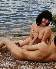 Nice day to go to the nude beach and have fun with girlfriend