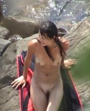 Young dark hair slut is tanning her sweet ass