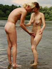 A horny couple goes to the nude beach and has some great public sex.